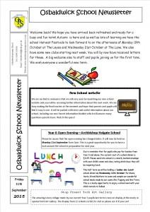 Newsletter 11.09.15
