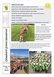 Newsletter 1.07.16